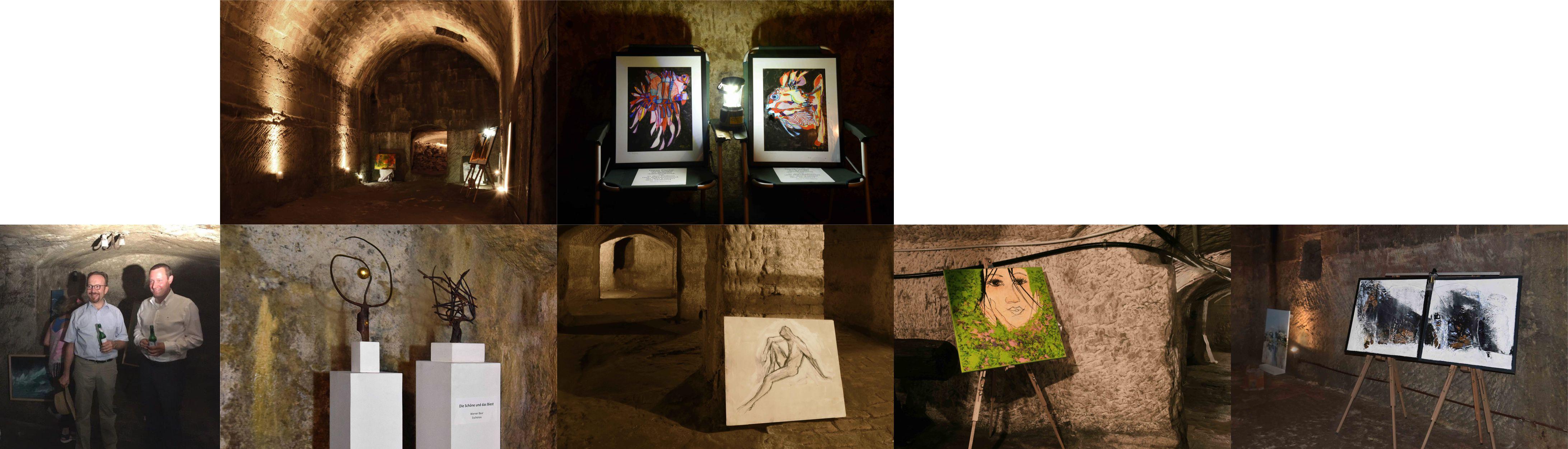 Untergrund – Kunst zum Altstadtfest in den Felsenkellern von Lauf